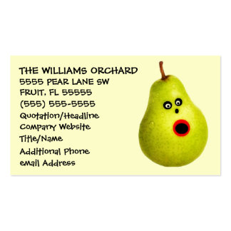 Funny Pear Grower Advertising Pack Of Standard Business Cards