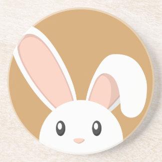 Funny Peeping Easter Bunny Coaster