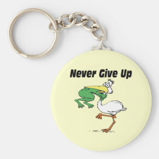 Funny Pelican Basic Round Button Key Ring