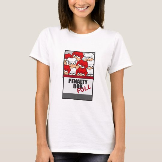 funny penalty box full ice hockey sports design T-Shirt