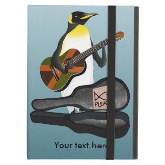 Funny Penguin Busking Case For iPad Air