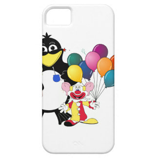Funny penguin & clown cartoon case for the iPhone 5