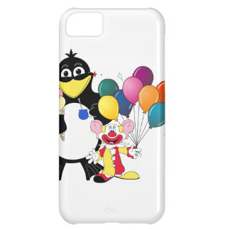 Funny penguin & clown cartoon iPhone 5C case