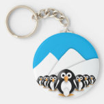 Funny penguins keychains