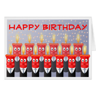 Funny People Candles Happy Birthday From All of Us Greeting Card