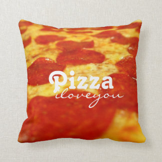 Funny Pepperoni Cheese Pizza Addict Fast Food Cushion