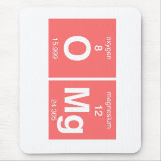 "Funny Periodic table ""OMG"" Mouse Mat"