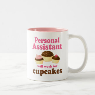 Funny Personal Assistant Two-Tone Mug