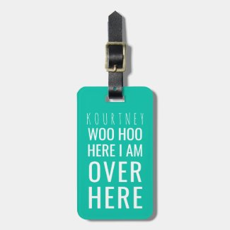 Funny Personalised Bag Attention | Humour Green Luggage Tag