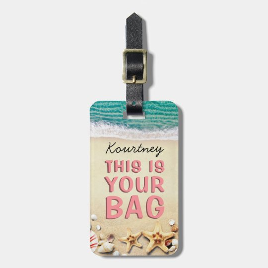 Funny Personalised Beach Summer Bag Attention Luggage Tag