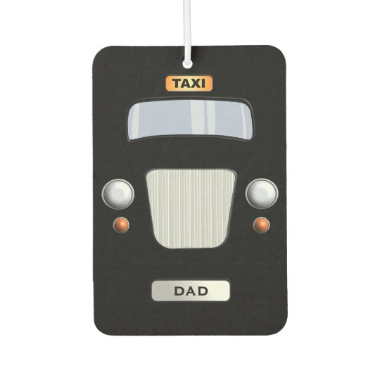 Funny Personalised Black Taxi Car Air Freshener
