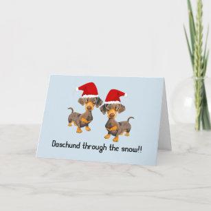 Dog Christmas Puns.Funny Personalised Dog Christmas Card