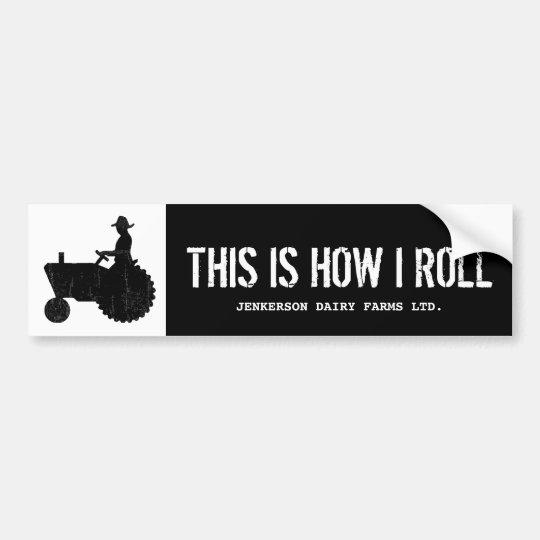 Funny Personalised Farm Tractor Farmer Sign Bumper Sticker