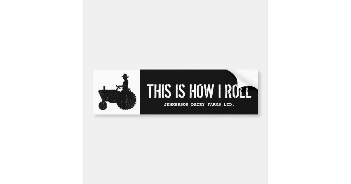 Funny personalised farm tractor farmer sign bumper sticker zazzle co uk