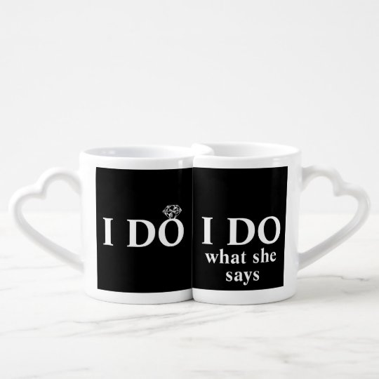 "Funny Personalised ""I Do"" Wedding Anniversary Coffee"