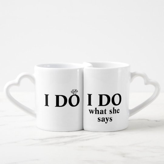 "Funny Personalised ""I Do"" Wedding or Anniversary Coffee"