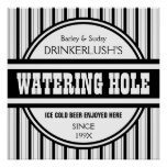 Funny Personalised Watering Hole Home Bar Sign