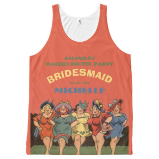 Funny personalized bachelorettes All-Over print tank top