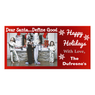 Funny Personalized Christmas Photo Card Template