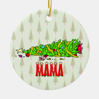Funny Personalized Christmas Tree Cartoon Christmas Ornament