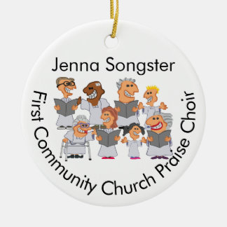 Funny Personalized Church Choir Christmas Ornament