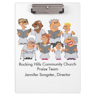 Funny Personalized Church Choir Clipboard