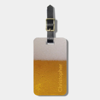 Funny Personalized Cold Beer Luggage Tag