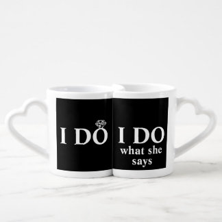 "Funny Personalized ""I Do"" Wedding Anniversary Lovers Mug"