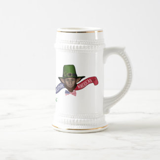 Funny personalized Irish american Beer Stein
