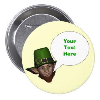 Funny personalized  Irish leprechaun 7.5 Cm Round Badge