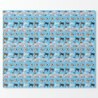 Funny Personalized Old MacDonald's Farm Wrapping Paper