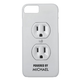 Funny Personalized Power Outlet iPhone 7 Case