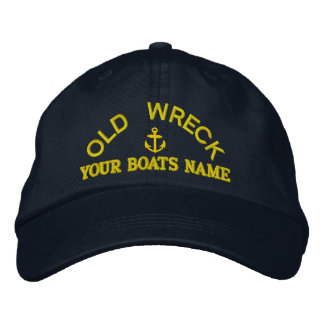 Funny personalized sailing captains yacht crew embroidered hat