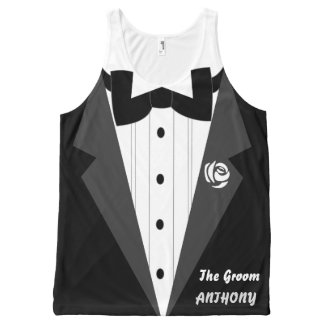 Funny personalized tuxedo All-Over print tank top