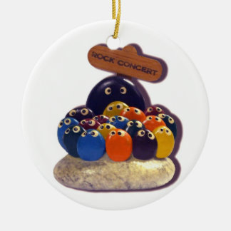 Funny  Pet Rock Concert kitsch 1970's fad ornament