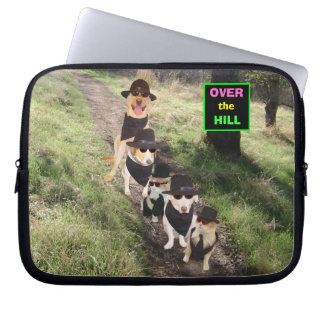 Funny Pets Over the Hill Laptop Sleeves