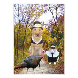 Funny Pets Thanksgiving Invitation