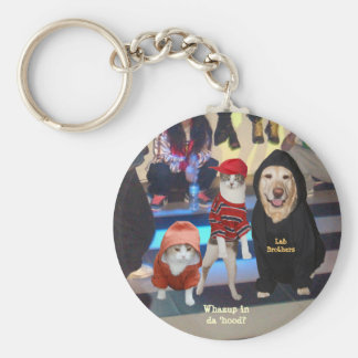 Funny Pets Whazup in da 'Hood Basic Round Button Key Ring
