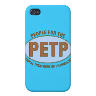 "Funny Pharmacist Gifts Unique ""PETP"" Deisgn Case For The iPhone 4"