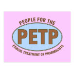 "Funny Pharmacist Gifts Unique ""PETP"" Deisgn Postcard"