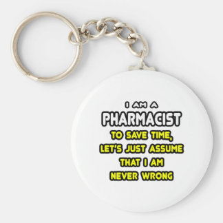 Funny Pharmacist T-Shirts and Gifts Basic Round Button Key Ring