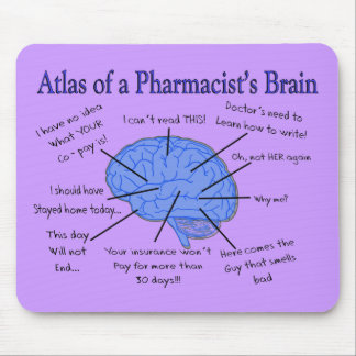 Funny Pharmacist's Brain Gifts Mouse Mat