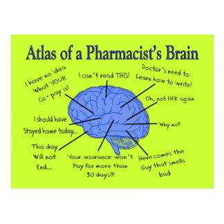 Funny Pharmacist's Brain Gifts Postcard