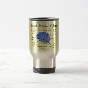Funny Pharmacist's Brain Gifts Travel Mug