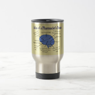 Funny Pharmacist's Brain Gifts Travel Mug