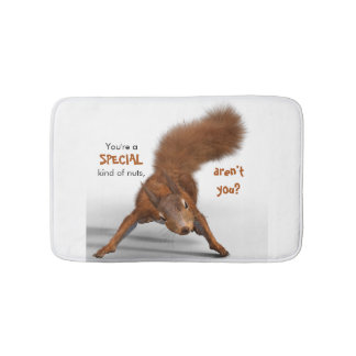 Funny Photo of Red Squirrel | Special Kind of Nuts Bath Mat
