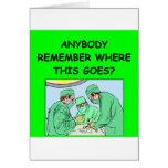 funny physician joke greeting card