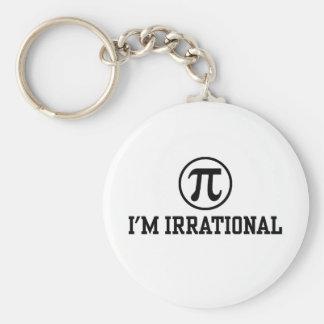 Funny Pi Basic Round Button Key Ring