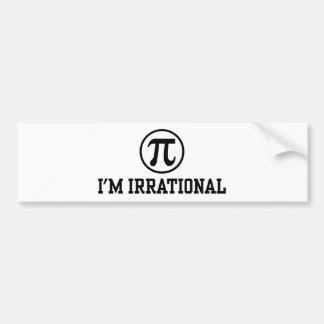 Funny Pi Car Bumper Sticker