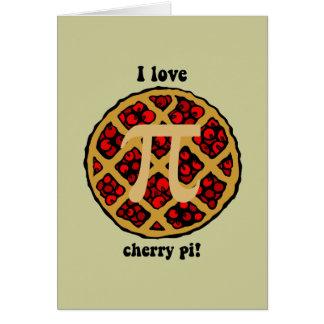 Funny pi greeting card